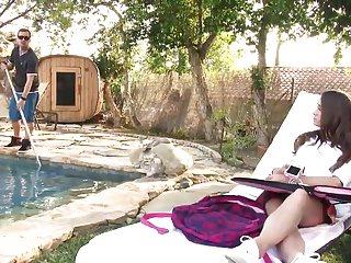 Pool cleaner guy xxx videos - Wankz- pool guy leaves huge creampie inside kacy lane