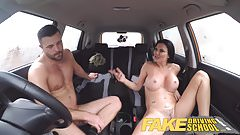Fake Driving School lucky young lad seduced by his busty mil