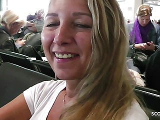 Nude holiday milf - German milf flash huge tits in plane and ride on holiday