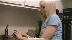 Ashley kitchen sink masturbation