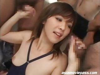 Bukkake japanese orgy - Miad-277 - hardcore japanese orgy - ami hanamiya