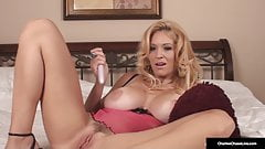 Busty Cougar Charlee Chase Dildo Fucks Her Panty Clad Pussy!
