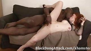 Slutty redhead loves big black cock