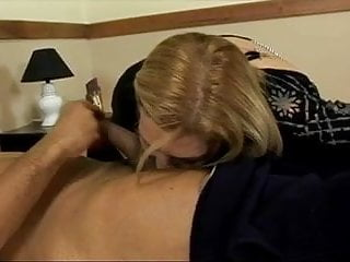 Twoman gets sucks cock - Mature fatty sucks cock and gets fucked in hotel bed