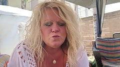 BBW Blonde Milf Public Big Tits Blow Job