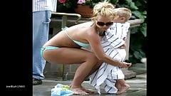 Tribute Britney Spears' ASS in stunning Green Bikini Pics wi