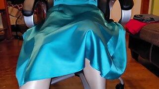 Vintage white half slip under Party dress