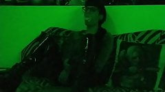 Sexy goth domina smoking in mysterious green light pt2 HD