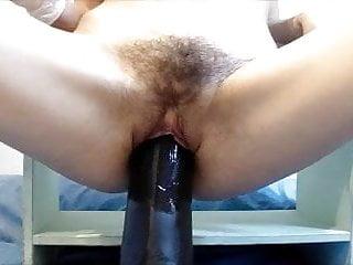 Wifes giant dildo - Giant dildo fuck