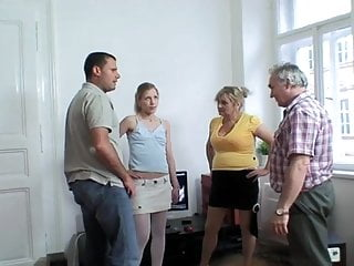Old couple sex picutres Old couple fuck with young blonde in pantyhose and a stud