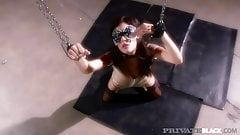 PrivateBlack - Michelle Avanti Is Blindfolded & Butt Banged!