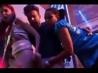Sex behind nightclub - Nightclub having orgy sex