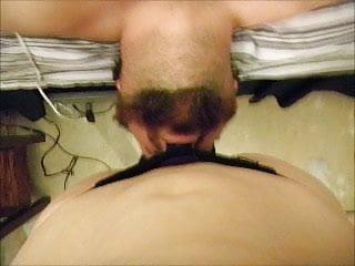Face fucking strapon - Face fucking her man