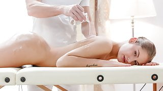 THE WHITE BOXXX - Oiled blonde enjoys massage and steamy sex