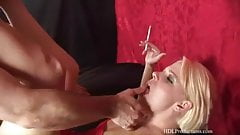 By far the sexiest double smoking fetish bj ever! Just wow!