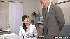 Japanese office lady, Noeru Mitsushima got fucked and creamp