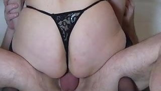 horny wife gets fucked and creampie