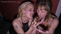 Happy Easter slut! Chav eats cum from egg British bukkake