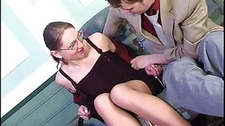 Milf Magne is fucked while waiting for a job interview