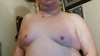 smooth gay chub cub cums into briefs