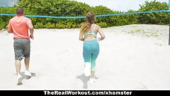 TheRealWorkout - Big Titty Teen Fucked By Trainer