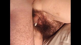Hairy mature Inge V2 - Creampied