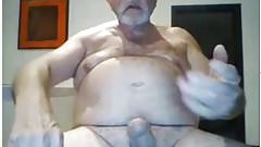 mature male stroking