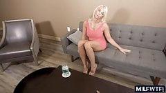 Blonde cougar loves cock