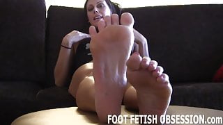 I need you to lick between each one of my pink little toes