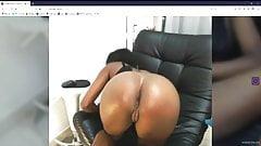 Hot young ebony web cam model