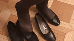 sexy flats with pantyhose