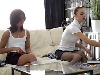 Cute homeade threesome ffm video - Cute brunette babes - play ffm threesome