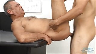 Handsome daddy getting fucked in the office