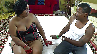 Huge Ebony BBW Fucking A Big Black Cock