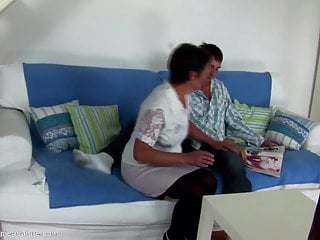 Mother reluctantly gives son her pussy Mother creampied by not her son in hairy pussy