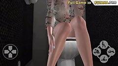 3dニューハーフがトイレで女性を犯す-ふたなりトイレセックス