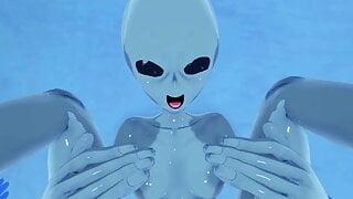 POV Alien Captures Human For Impregnation