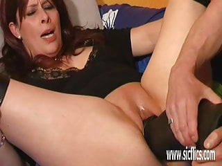 Giant dildo insertios ising Extreme mature giant dildo fuck and double fisting