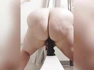 Girls riding cocks and moaning - White bbw with sexy moan rides big black dildo