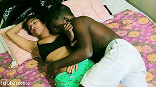 Indian hot couple has romantic sex at night with loud sex sounds