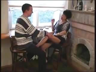 Man fucking mom - Young man fucks asian granny