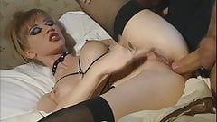 Anal in black stockings