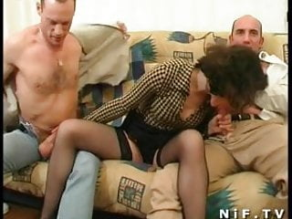 Vaginal irritation with menopause French milf gets a double vaginal
