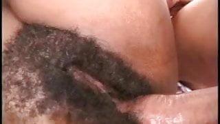 Sexy hairy ebony chick