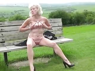 Sexy shirley in heels - Sexy granny in heels outside