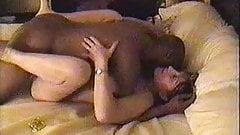 Horny hotwife LOVES black cock bareback.