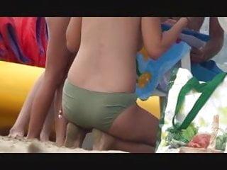 Ibiza sexy beach parties - Btb 03 373m incredible spanish brunette topless beach ibiza