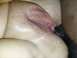 Dripping wet black pussy clips - Dripping wet bbw gets a black cock in her asshole