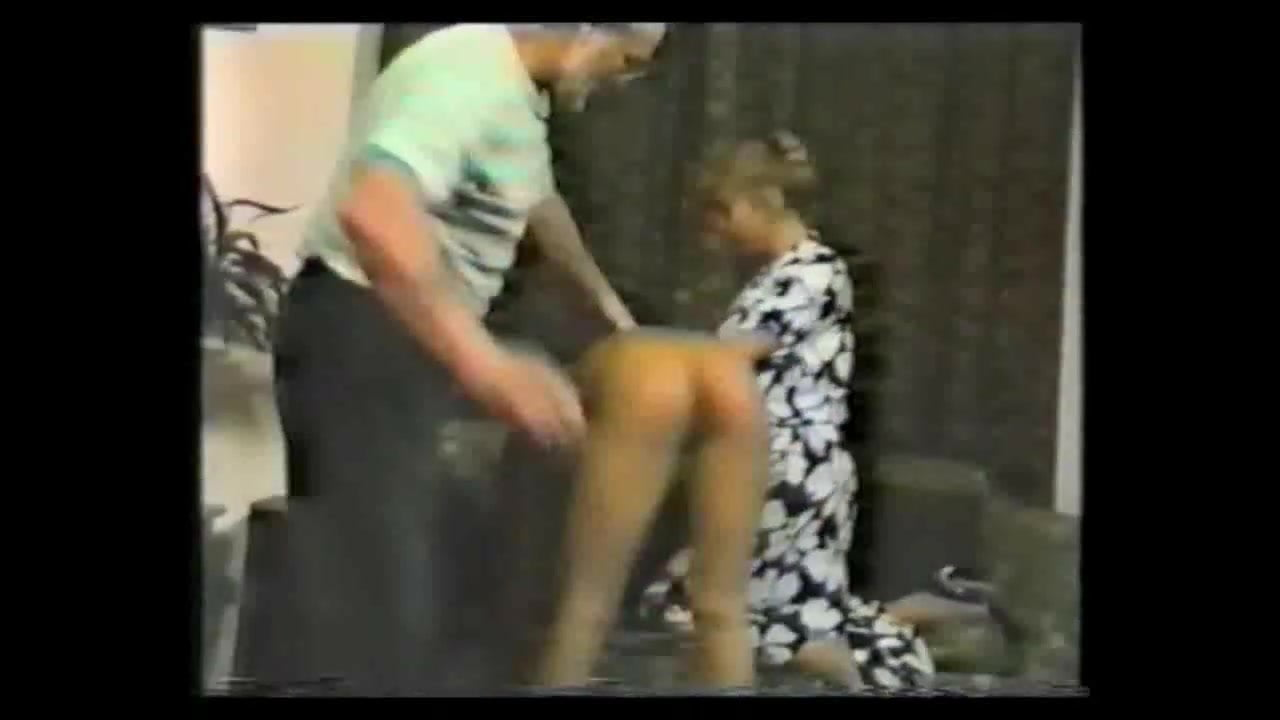 Solange spanked and slippered