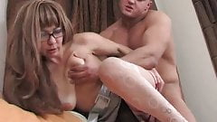 hot mom have pleasure with muscular boy